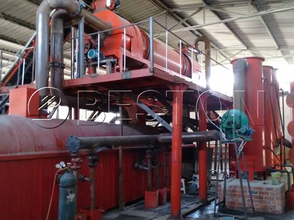 palm shell carbonization machine